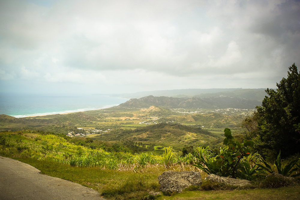 View over to the East Coast of Barbados